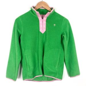Lilly Pulitzer Green Fleece 1/4 Zip Pullover